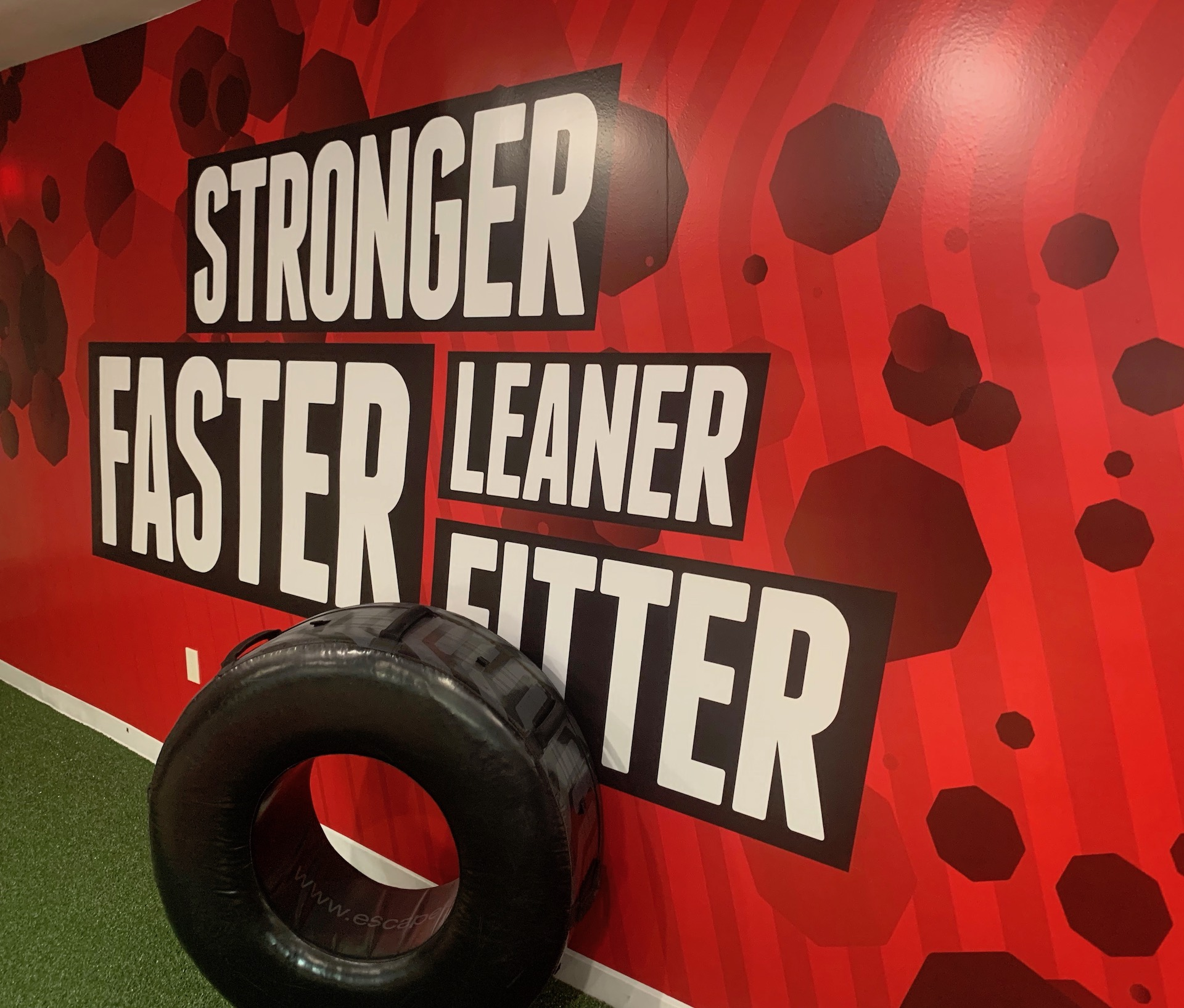 Stronger faster leaner fitter sign