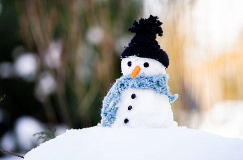 stressed snowman